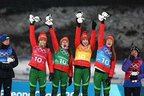 Олимпийское золото Пхёнчхана-2018 завоевали в эстафете белорусские биатлонистки