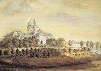 Нясвіжскі замак на літаграфіі Напалеона Орды