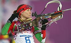 Race of Biathlon Legends in Raubichi, Darya Domracheva