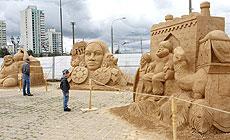 I Міжнародны фестываль пясчаных скульптур у Мінску