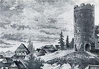 Камянецкая вежа. Малюнак Напалеона Орды. ХIX стагоддзе
