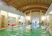 A swimming pool in the Belaya Vezha health resort