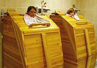 Cedar barrel mini-sauna