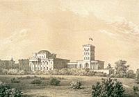 Гомельский дворцово-парковый ансамбль. Литография Наполеона Орды