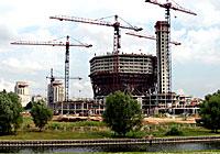 Строительство Национальной библиотеки Беларуси