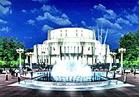 Макет Большого театра после реконструкции