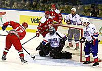 Матч Беларусь-Францыя ў рамках Х Каляднага турніру
