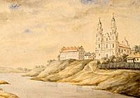 Сафійскі сабор на гравюры Напалеона Орды (XIX ст.)