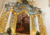Деревянный алтарь в Фарном костеле (Гродно)