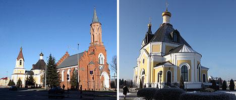 Свято-Успенский собор и костел Пресвятой Троицы в Речице