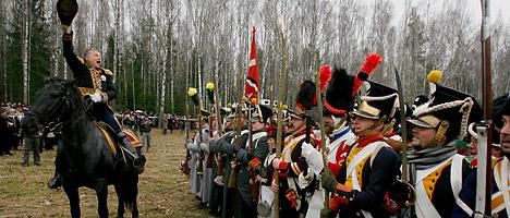Battle reenactments on the Brili Field