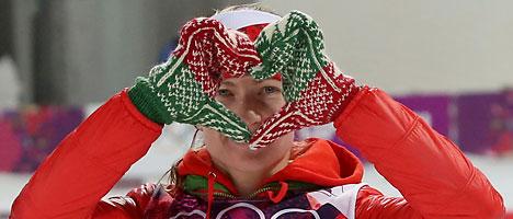 """Звезда мирового биатлона - """"белорусская ракета"""" Дарья Домрачева"""