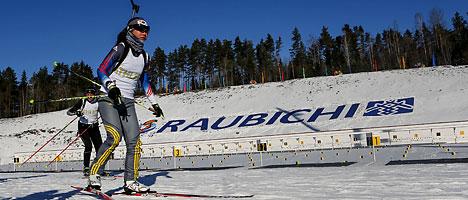 Biathlon stadium in Raubichi