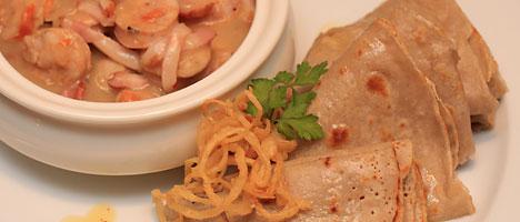 Buckwheat pancakes with vereshchaka