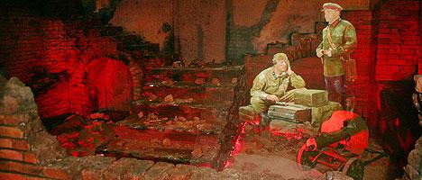 Голографическия 3D-инсталляция в экспозиции, посвященной обороне Брестской крепости