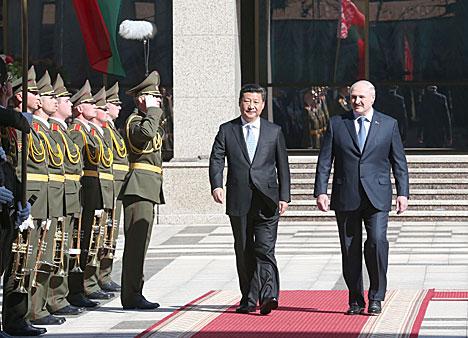 习近平中华人民共和国主席去了白俄罗斯国事访问