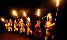 Folk rite Kolyady (Christmas) Tsars in the village of Semezhevo