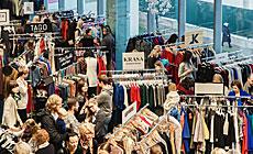 Large fashion market in Minsk