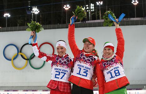 Domracheva wins 15km individual for second gold in Sochi, Skardino bags bronze