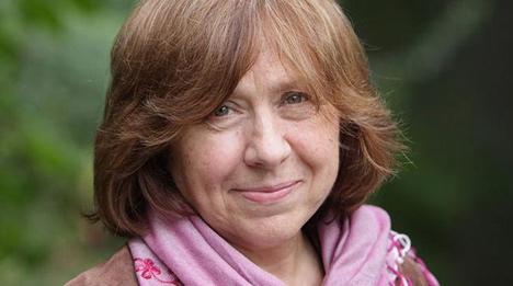 Belarus' Svetlana Alexievich wins 2015 Nobel Prize in Literature