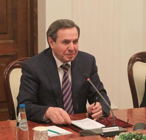 Governor of Russia's Novosibirsk Oblast Vladimir Gorodetsky