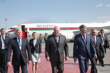 Lukashenko arrives in Kazakhstan on working visit