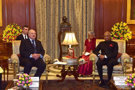 Lukashenko meets with India President Ram Nath Kovind in New Delhi