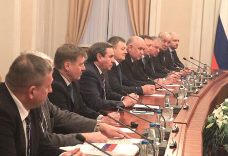 Belarus' Prime Minister Andrei Kobyakov met with Governor of Russia's Novosibirsk Oblast Vladimir Gorodetsky