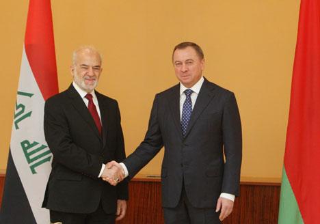 Ministers of Foreign Affairs of Belarus and Iraq Vladimir Makei and Ibrahim Al Jaafari