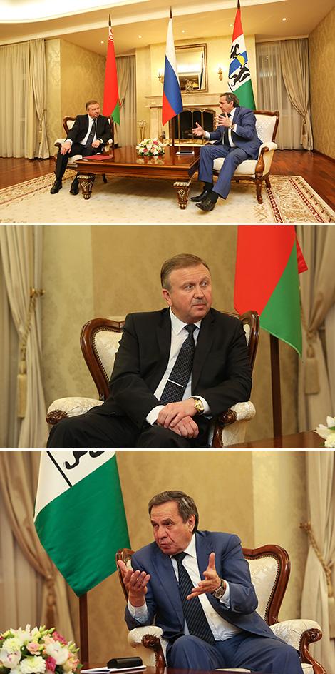 Belarus prime minister, governor of Russia's Novosibirsk Oblast discuss cooperation