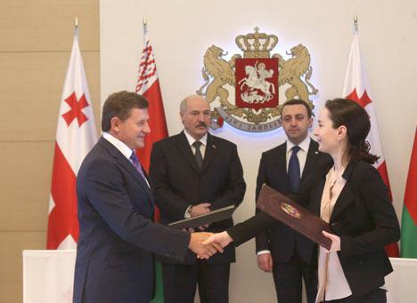 Belarus, Georgia sign 15 documents