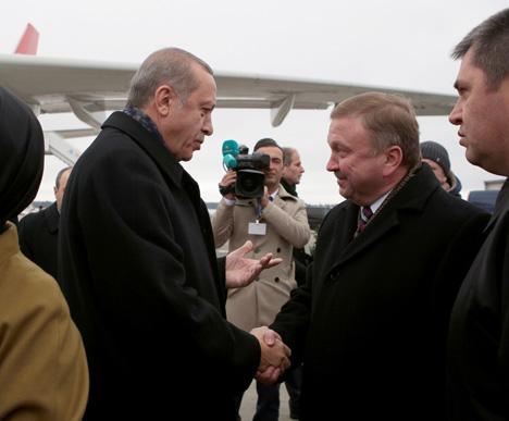 Erdogan arrives in Belarus on official visit