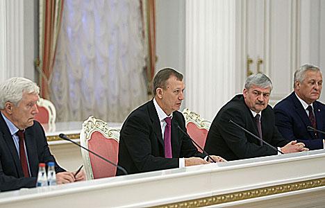 Встреча Александра Лукашенко с губернатором Брянской области Николаем Дениным
