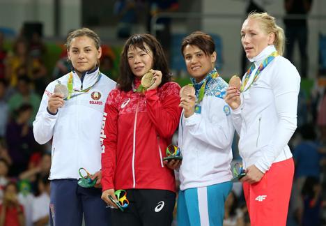 Мария Мамошук завоевала серебро Олимпиады в женской борьбе