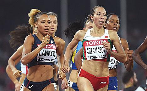 Белоруска Марина Арзамасова стала чемпионкой мира в беге на 800 м