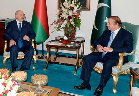 Переговоры Лукашенко и Наваза Шарифа в Исламабаде