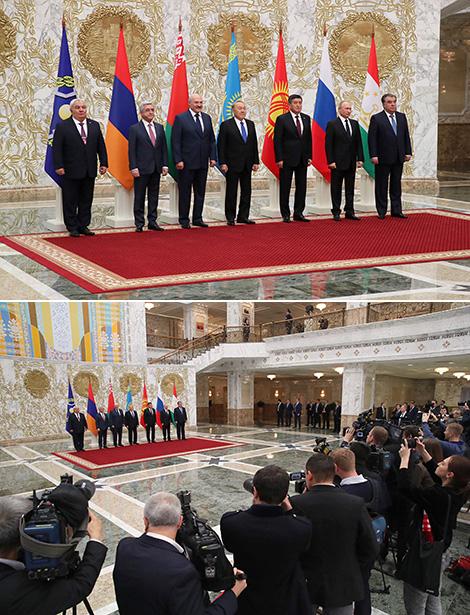 Президент Беларуси Александр Лукашенко среди глав стран-участниц ОДКБ
