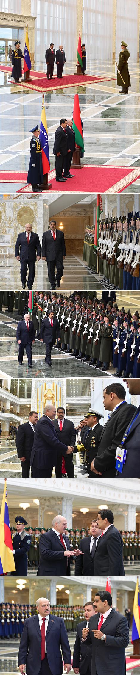 Церемония официальной встречи Президента Венесуэлы Николаса Мадуро во Дворце Независимости