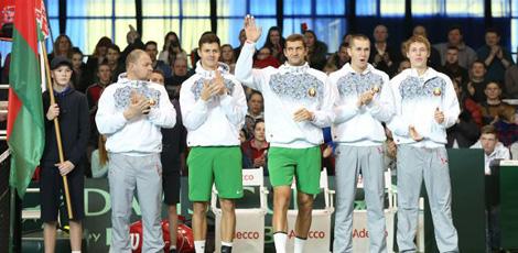 Белорусские теннисисты победили команду Румынии в матче Кубка Дэвиса