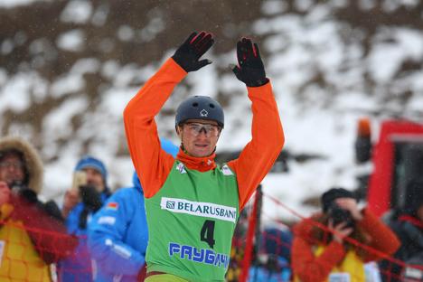 В соревнованиях мужчин белорус Максим Густик занял второе место