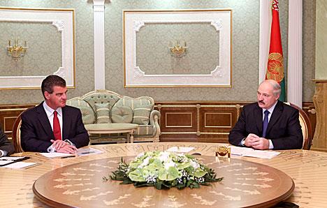 Александр Лукашенко и Петер Шпулер