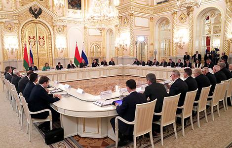 Заседание Высшего государственного совета Союзного государства Беларуси и России в Кремлевском дворце в Большом Кремлевском дворце
