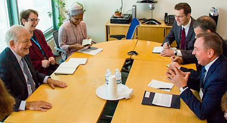 Встреча с исполнительным директором Детского фонда ООН (ЮНИСЕФ) Энтони Лейком