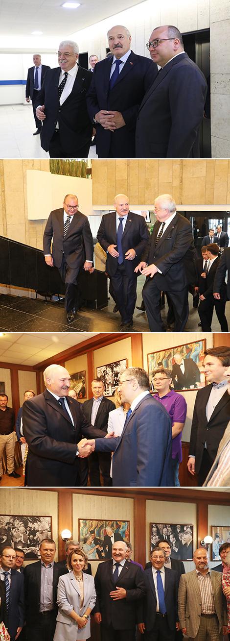 Лукашенко на встрече с руководителями крупнейших российских СМИ в Клубе главных редакторов ТАСС