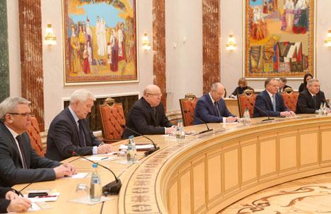 Во время встречи Александр Лукашенко с губернатором Нижегородской области Валерием Шанцевым