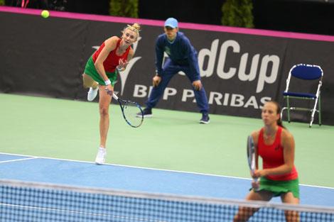 Белорусские теннисистки обыграли швейцарок со счетом 3:2 в полуфинале Кубка Федерации