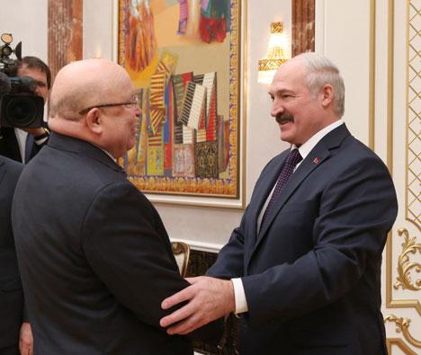 Александр Лукашенко на встрече с губернатором Нижегородской области Российской Федерации Валерием Шанцевым