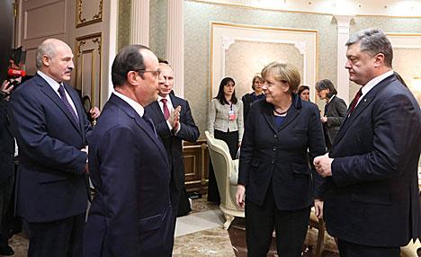 """""""Нормандская четверка"""" в полном составе собралась во Дворце Независимости на переговоры по Украине"""