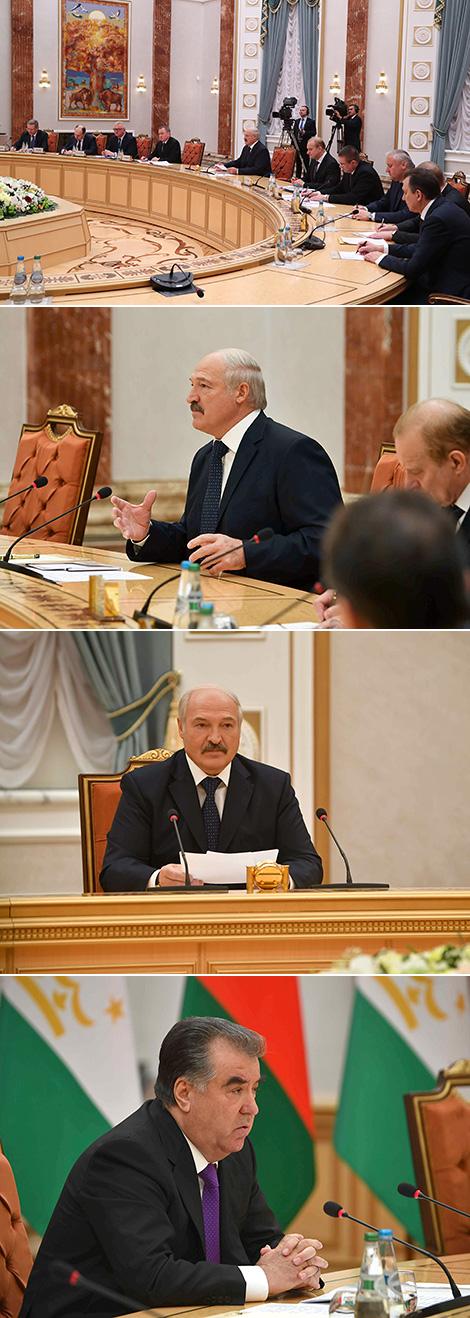 Лукашенко и Рахмон договорились выработать дорожную карту развития белорусско-таджикских отношений