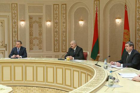 Президент Александр Лукашенко на встрече с Александром Соловьевым